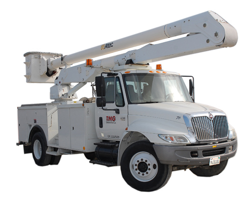 TMG Transportation bucket truck rental, lift, boom truck rentals Los Angeles, San Diego, Ventura, Riverside California